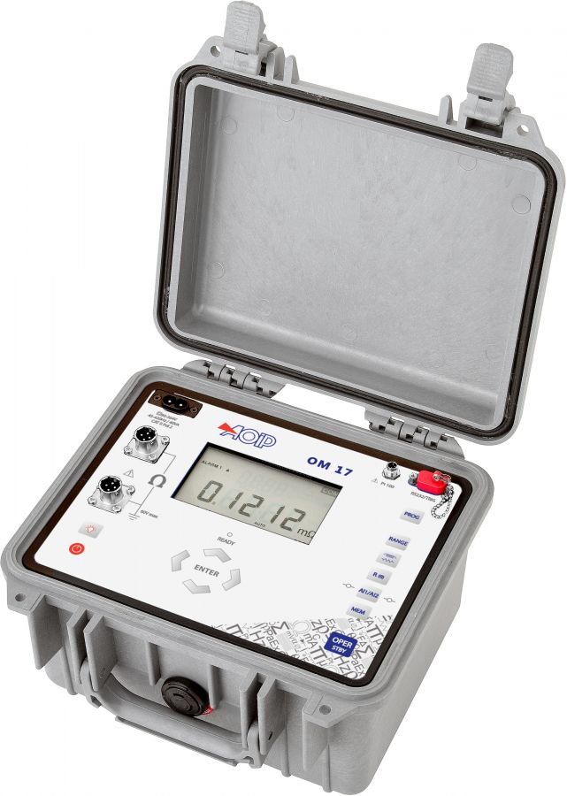 OM 17 现场10A微欧表用于感应和非感应电阻